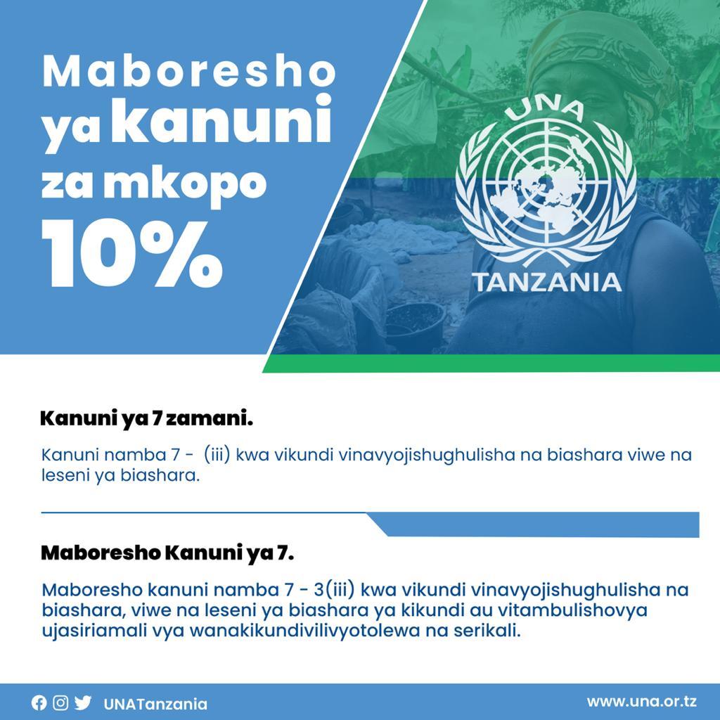 MABADILIKO YA KANUNI ZA MKOPO WA 10% WANAWAKE, VIJANA NA WATU WENYE ULEMAVU KUTOKA HALMASHAURI ZOTE TANZANIA: